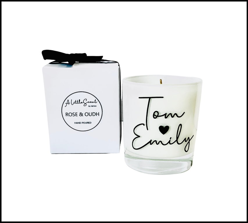 Rose & Oudh Candle Personalised