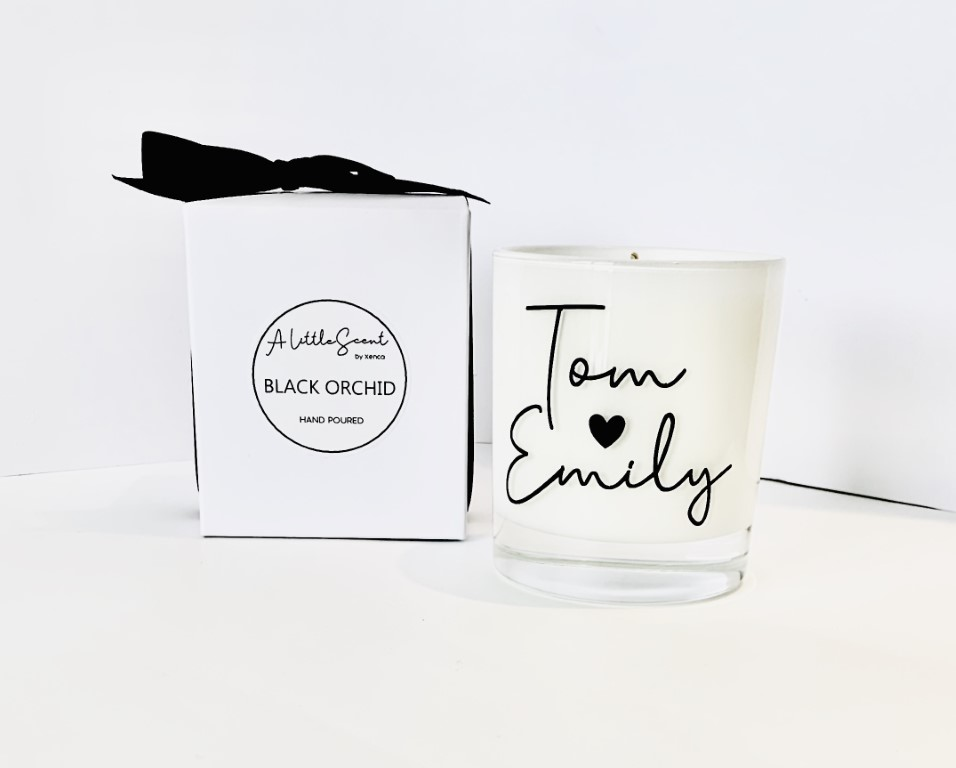 Black Orchid Candle - Personalised