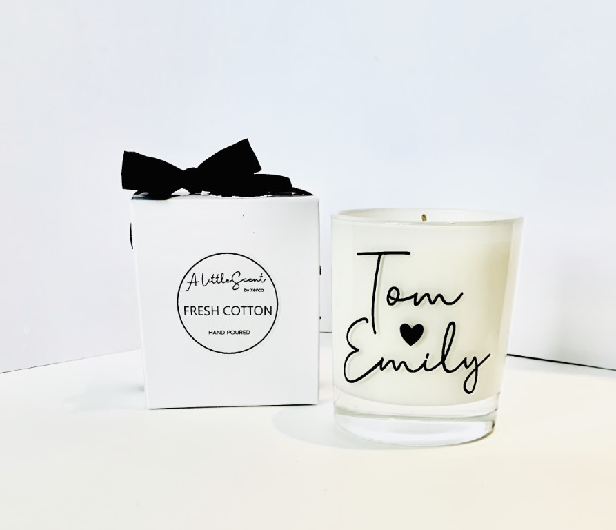 Fresh Cotton Candle - Personalised